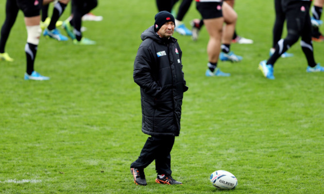 Japan head coach Eddie Jones at yesterday's final session at Kingsholm.