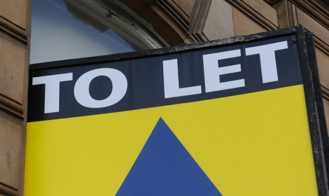 Kim Cessford - 29.12.13 - FOR FILE - pictured is a To Let sign in Dundee city centre