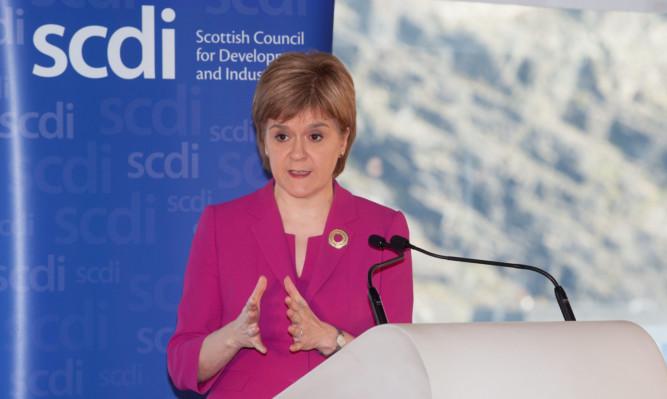 First Minister Nicola Sturgeon addresses the SCDI.