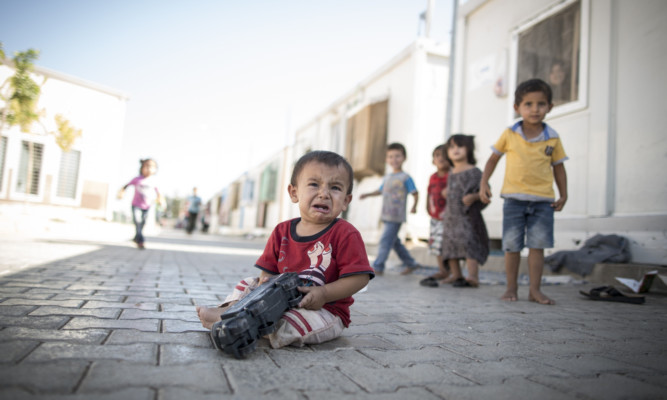 Syrian refugee children who have made it to Turkey.