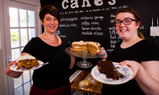 Louise McCulloch (left) and Glenna Ford of Spill The Beans Cafe.