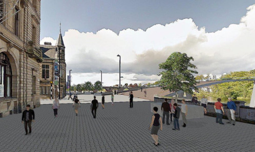 A vision of how Tay Street could look, with new Tay crossings also envisaged.
