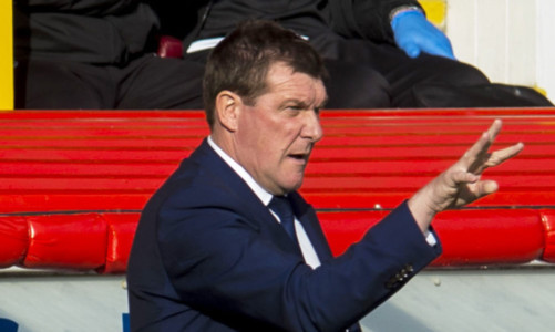 Tommy Wright at Pittodrie on Saturday.