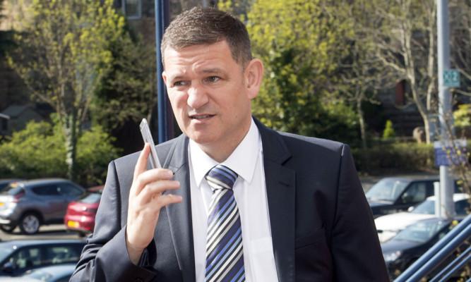 St Johnstone chairman Steve Brown.