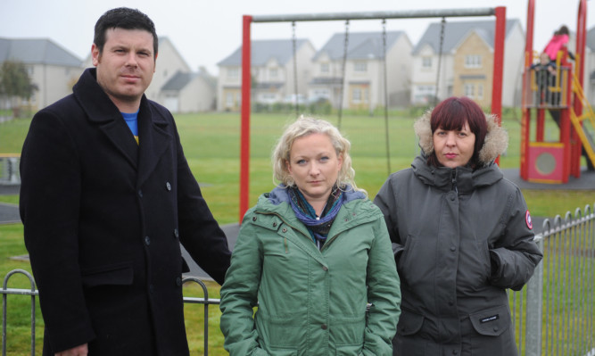 Ferryfields residents (from left) Richard Duncan, Becky McManus and Vicki Bell are concerned about the counter proposal to move them out of the Broughty Ferry council ward.