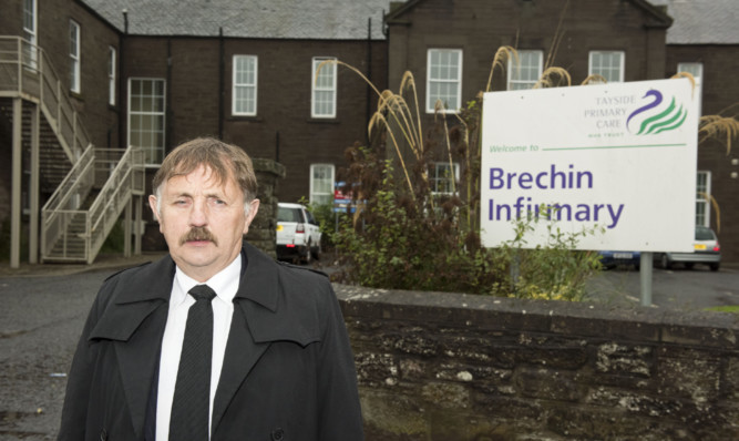 Councillor Bob Myles has branded the closure of Brechin Infirmary disgraceful.