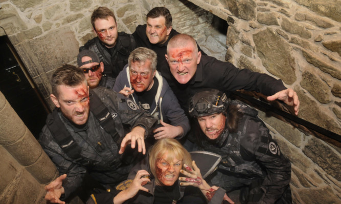 A plague of trainee zombies invaded Dundees Mains Castle at the weekend.