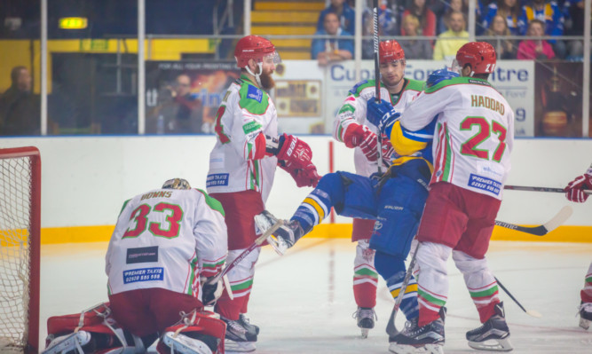 Action from the Flyers clash with Braehead Clan on Friday, which the Fife side lost 5-3.