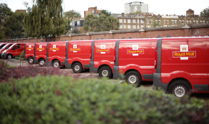 Royal Mail delivery vans, now in private ownership.