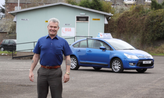 Arbroath driving instructor Lez Wells, top, says he isnt surprised about the latest figures.