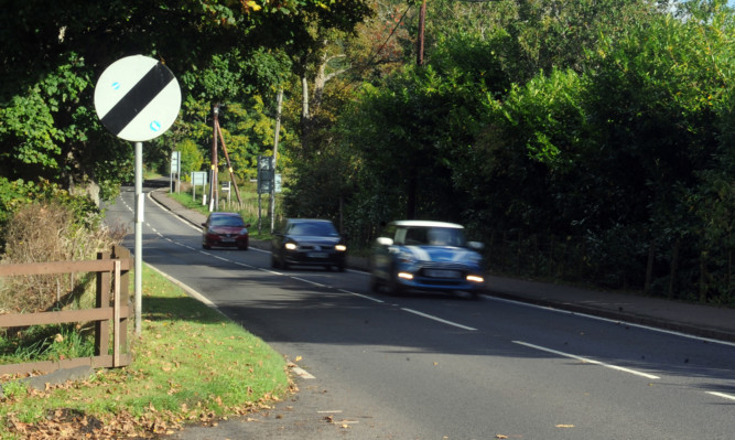 12.10.15 - pictured is the A85 between Crieff and Comrie where the speed limit is to remain the same after a review of suggestions to lower it