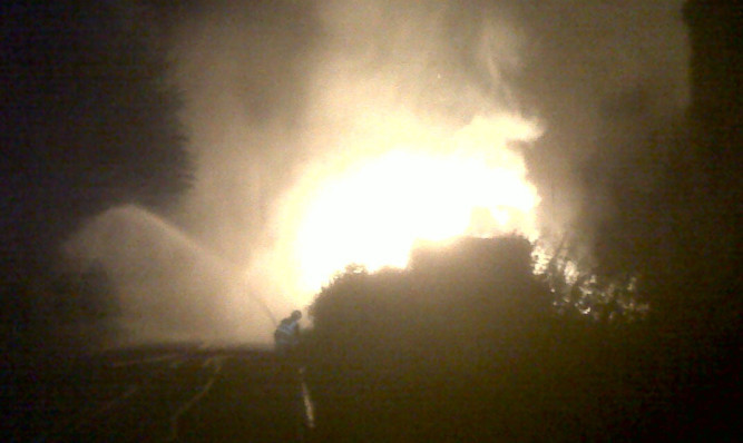 The blaze caused thousands of pounds worth of damage.