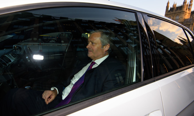 Paul Willis departs the transport comittee hearing for the Volkswagen Group's emission violation.
