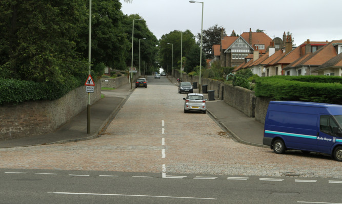 The dividing line: Houses on the left of the of Victoria Road will be in Dundee East and the houses on the right will be in Broughty Ferry if the changes are made.