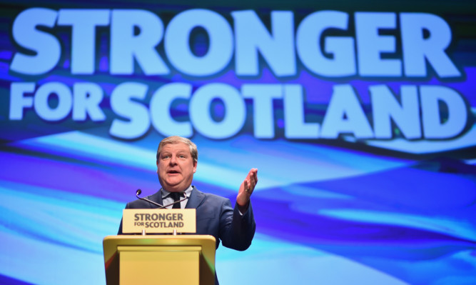 Angus Robertson addresses to the SNP conference in Aberdeen.