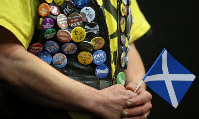 SNP supporter Alastair Rennie at  the SNP conference at the Aberdeen Exhibition and Conference Centre  PRESS ASSOCIATION Photo. Picture date:Thursday  15th October ,2015. Photo credit should read: Andrew Milligan/PA Wire.