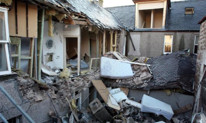 The devastation after the gas blast.