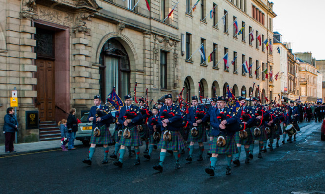 The Perth and District Pipe Band will lead the parade from Perth Concert Hall.