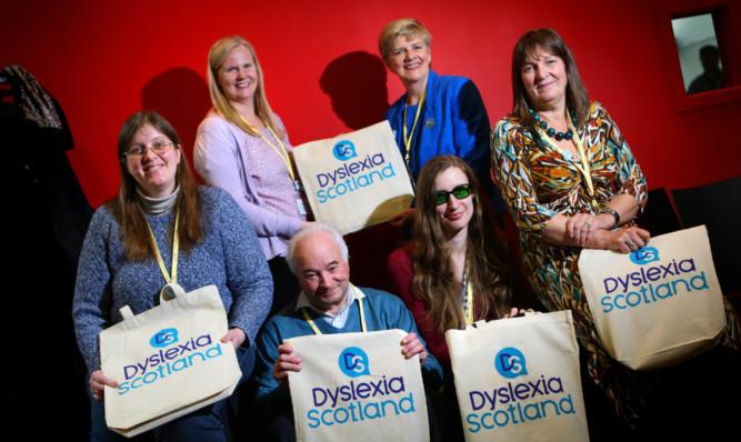 Doreen Kelly, Helen Ferguson, Henry Hunter, Evelyn Littler, Celia Richardson and Mary Jane Bird at Dundee University.