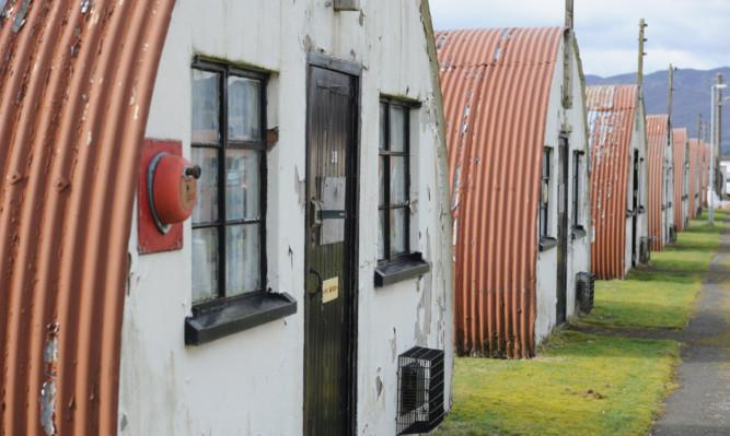 The former prisoner of war camp at Cultybraggan, near Comrie.