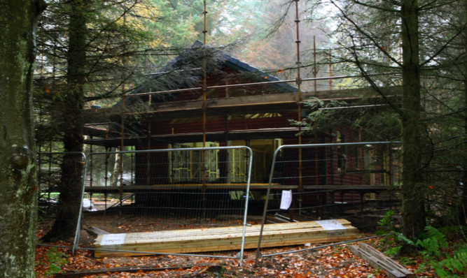 The lodge in which Mr McLennans remains were found last month has now been substantially rebuilt.