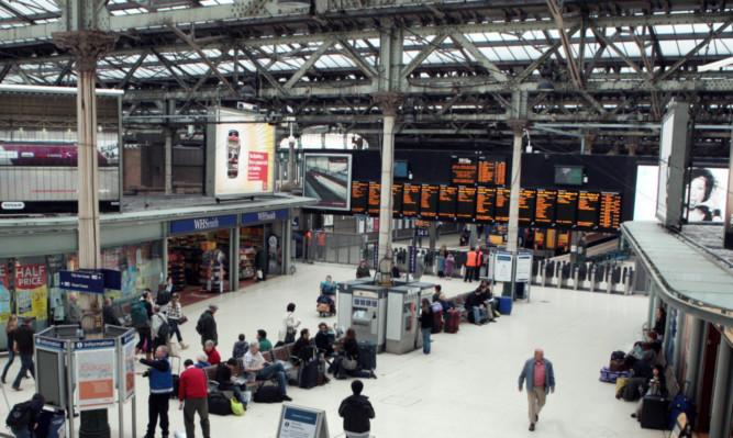 The men boarded at Edinburgh Waverley.