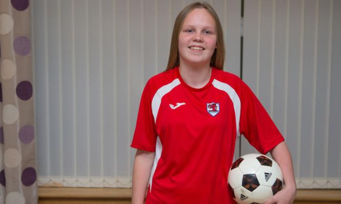 Tiegan Clark, 17, plays for Raith Rovers Ladies and Girls FC.
