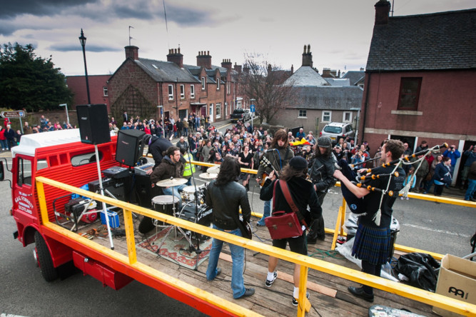 AC/DC fans from across the globe poured into Kirriemuir at the weekend to pay homage to the towns rock star son Bon Scott. Bon Scott disciples partied with other diehards at the annual BonFest celebration, which pays tribute to the former lead singer of the rock band