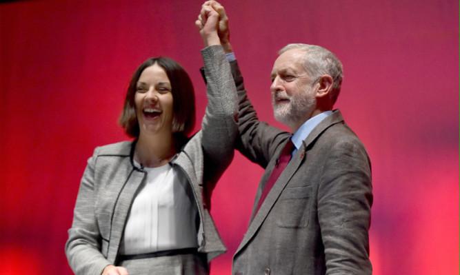 Labour leader Jeremy Corbyn with Scottish Labour Party leader Kezia Dugdale.