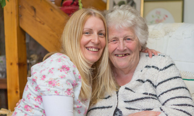 Emma and mum Doreen Scott happy and well at home in Crail.