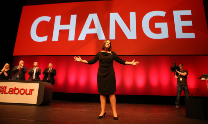 Scottish Labour leader Kezia Dugdale after her speech at the Perth Concert Hall.