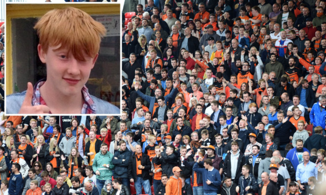 Dundee United usually take a big support to Pittodrie, and fan groups expect them to pay a fitting tribute to Bailey Gwynne (inset).