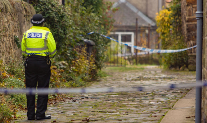 Police cordoned off Rose Lane while they investigated the incident.