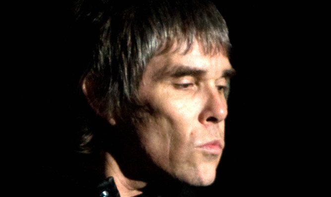 Stone Roses lead singer Ian Brown at T in the Park 2012.
