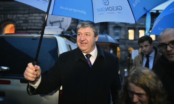 Alistair Carmichael at Edinburgh Court of Session.