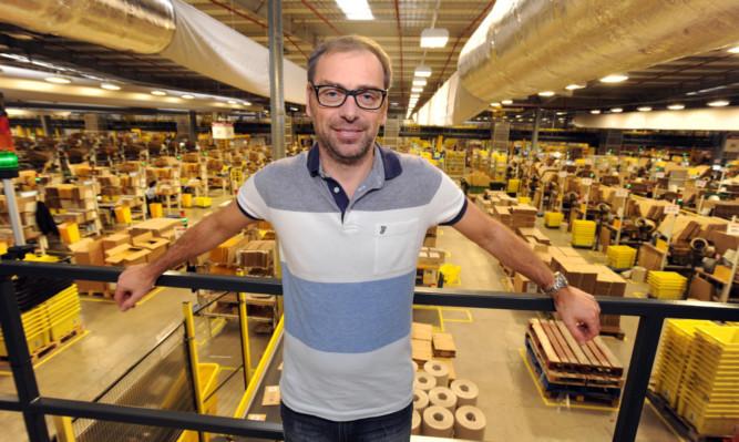 Gavin Morrison manages the Amazon Fulfilment Centre in Dunfermline.