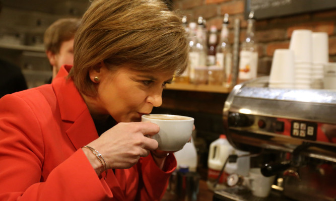 Nicola Sturgeon would take the complete works of Jane Austen and a coffee machine if she was cast adrift on a desert island.