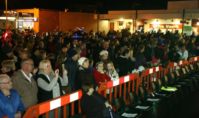 The Christmas lights switch-on in Monifieth is always popular.