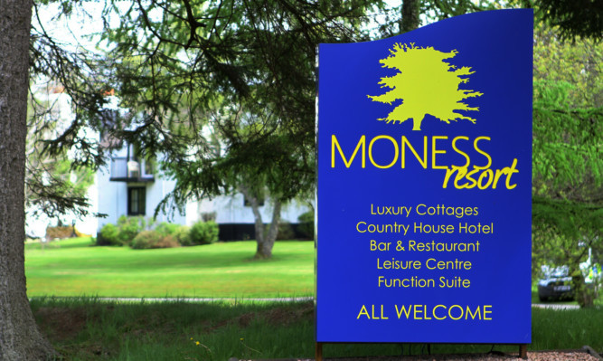 Staff at the Moness Hotel and Country Club called police on Sunday.