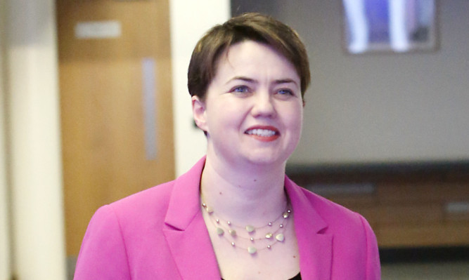 The poll suggests Ruth Davidson's party is cathcing up with Scottish Labour.