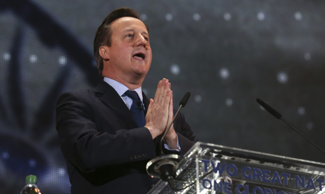 David Camerons tough negotiating stance with the European Council is nothing of the sort, says Alex Salmond.