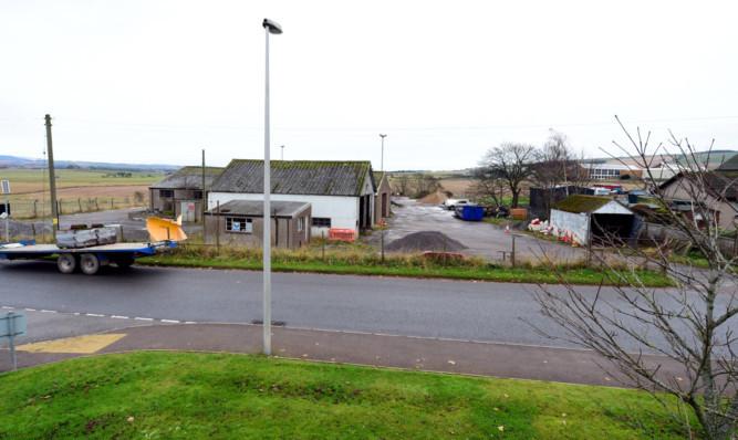 The Aberdeenshire Council depot on Fourdon Road, Laurencekirk.