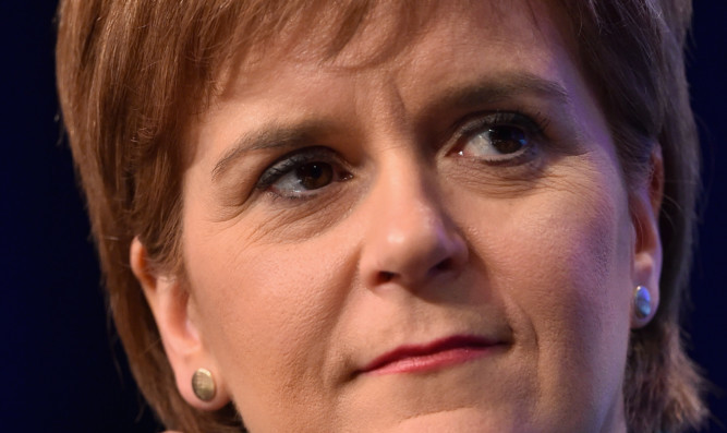 First Minister and SNP leader Nicola Sturgeon.