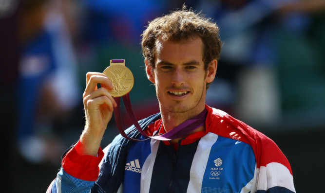 Andy Murray was the pride of Britain when he won the Olympics in 2012.