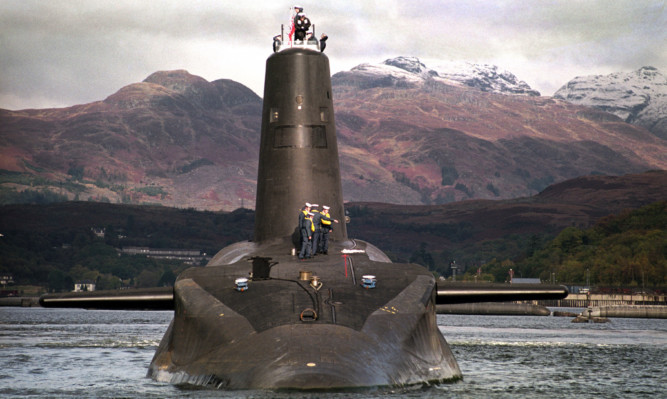 HMS VANGUARD COL  * 30/01/2002: Anti-nuclear campaigners are preparing to gather in Plymouth this weekend to protest about the refitting of the Royal Navy's 16,000 ton Trident-class nuclear submarine Vanguard, it emerged. No details have yet been released about which day the 10-year-old vessel will sail up the river Tamar for the refit in a new multi million dock at Devonport.