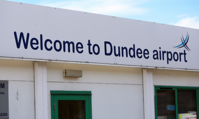 Dundee Airport became the unlikely focus of a heated exchange.