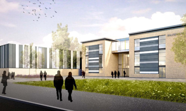An artist's impression of the new school.