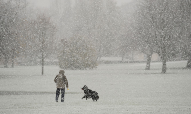 Heavy snow battered Perthshire over the weekend.