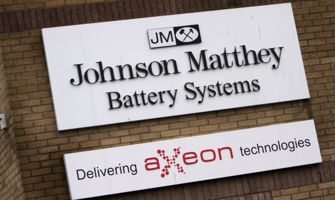 Kris Miller, Courier, 28/11/15. Pic today shows Johnson Matthey Battery Systems, Dundee which is to shut in June next year.