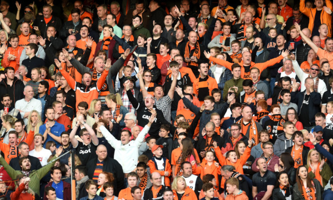 Supporters have been urged to not bring drums to Tannadice.
